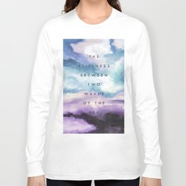 Stillness [Collaboration with Jacqueline Maldonado] Long Sleeve T-shirt