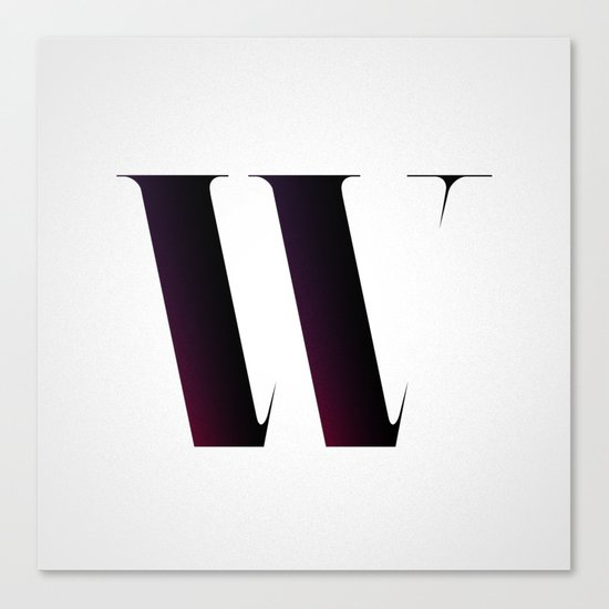 The Letter W Canvas Print