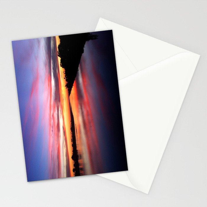 Sunset on the San Diego River Stationery Cards