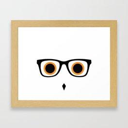 Hipster Owl No.5 Framed Art Print