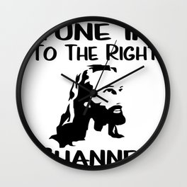 Tune In To The Right Channel Jesus Religious Christian Gifts Wall Clock