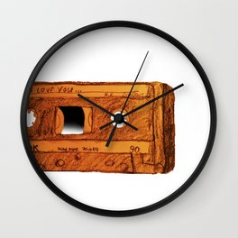 I love you Mixtape Wall Clock