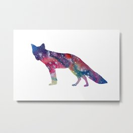 Cosmic Fox Metal Print