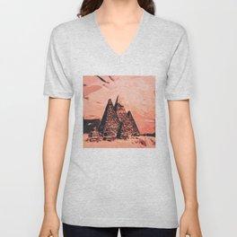 pyramid egypt monumental Unisex V-Neck