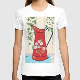 Country Garden Vintage Flower Jug T-shirt