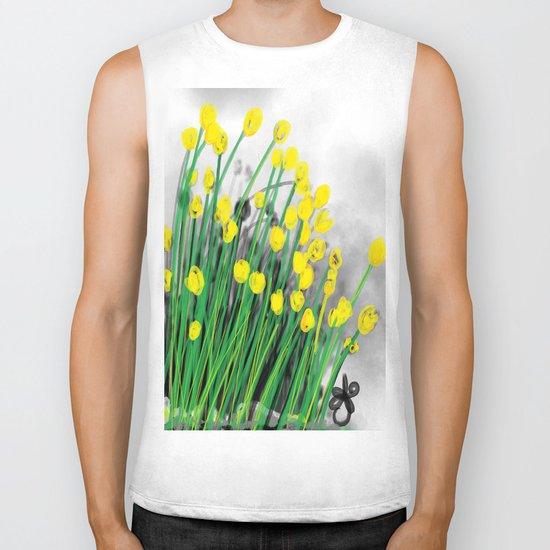 Yellow Flowers! Biker Tank