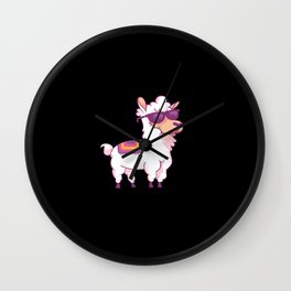 Lama Lama Gift Idea Wall Clock
