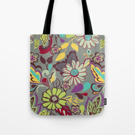 Large Bright Blooms Tote Bag