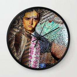 Man and Machine - Magazine Collage Painting Wall Clock