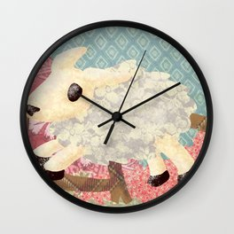 Jumping lamb Wall Clock