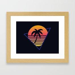 Retrowave sunset 3 / 80s - 90s Retro Framed Art Print