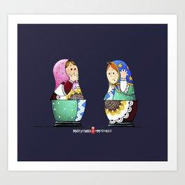MATRYOSHKA CONFUSED Art Print