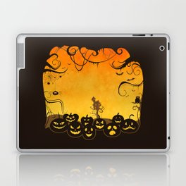 Halloween Pumpkin Faces Laptop & iPad Skin
