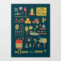 farm Canvas Prints featuring farm by blablasah