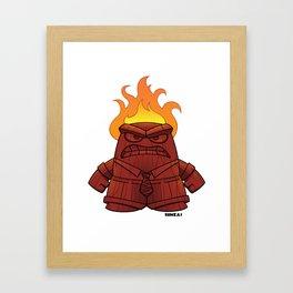 Tiki God of Anger Framed Art Print
