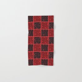 Patchwork . Roses are red. Hand & Bath Towel