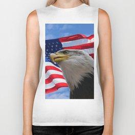 American Flag and Bald Eagle Biker Tank