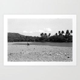 Pushing Bike Through Sand, Baracoa, Cuba Art Print