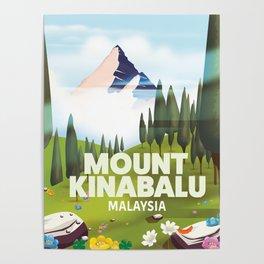 Mount Kinabalu Malaysia Poster