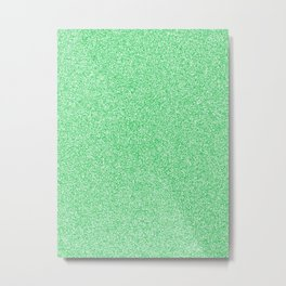 Melange - White and Dark Pastel Green Metal Print
