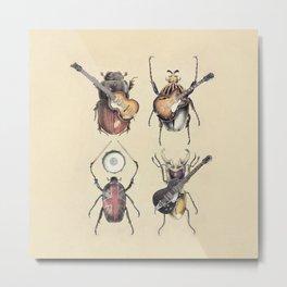 Meet the Beetles Metal Print