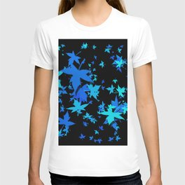 Fall Leaves in Blue T-shirt