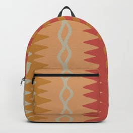 Assorted Zigzags And Waves Sienna Peach Grey Backpack