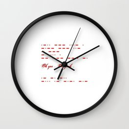 Give me morse in red Wall Clock