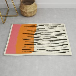 Lines abstract color box Rug