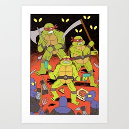 TURTLES FIGHTERS - REVENGE Art Print