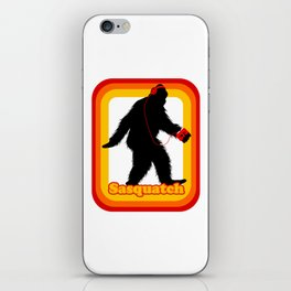 Retro Sasquatch iPhone Skin