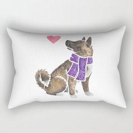 Watercolour Akita Rectangular Pillow