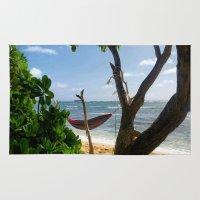 bikini Area & Throw Rugs featuring Bikini Beach  by Chris Muhlestein