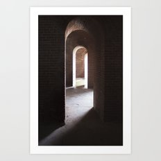 Arches, darkness into ligt Art Print