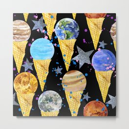 Univers with Planet of the solar system. Metal Print