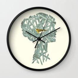 {No title} Yellow Bird Wall Clock