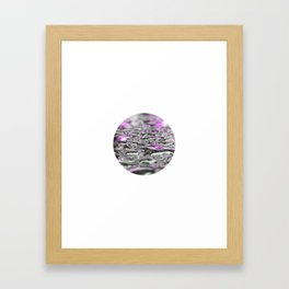 Droplets in Times Square No.3 Framed Art Print