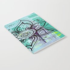 Teal Flower Notebook