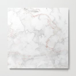 Luxury white and gray marble Metal Print