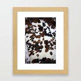Cowhide Framed Art Print
