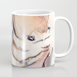Muscular Male Chest on Book Paper Coffee Mug