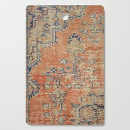 Vintage Woven Navy and Orange Cutting Board