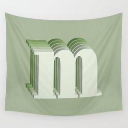 Letter M Wall Tapestry