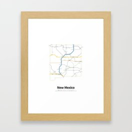 Highways of the USA – New Mexico Framed Art Print