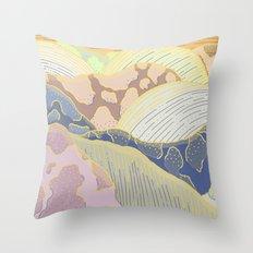 Mountains / Sunset Throw Pillow
