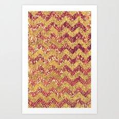 ROSE GOLD CHEVRON - for iphone Art Print