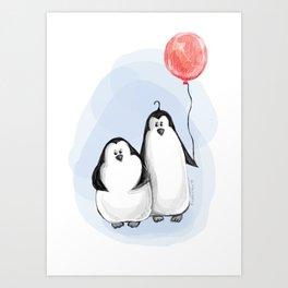 We are penguins Art Print