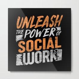 Social Worker Street Worker Metal Print