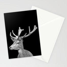 Deer Black Stationery Cards