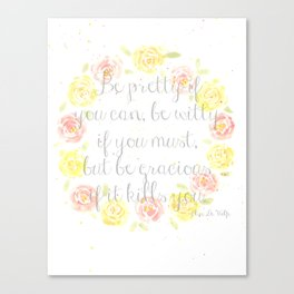 Be Gracious Canvas Print